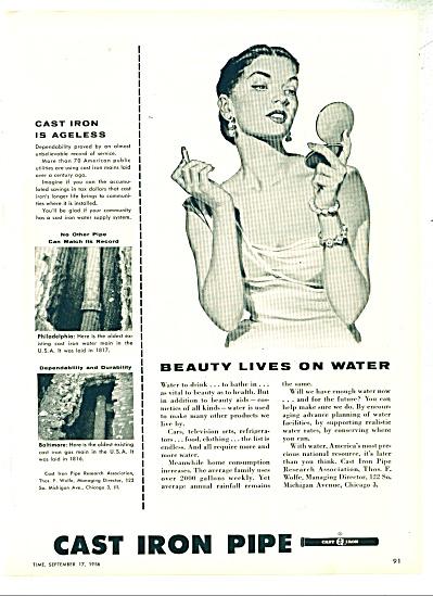 Cast Iron Pipe ad =1956 (Image1)