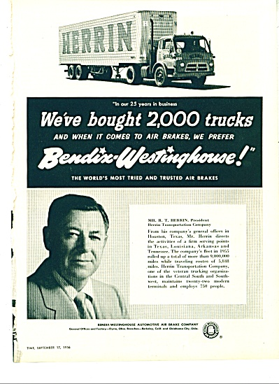 Herrin  & Bendix Westinghouse ad - 1956 (Image1)