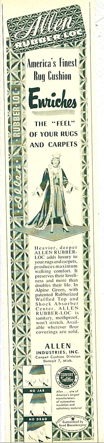Allen Rubber Loc  Ad  -  1952 (Image1)