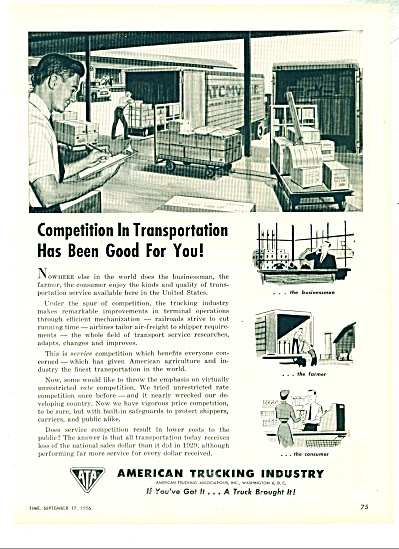 American Trucking Industry ad - 1956 (Image1)