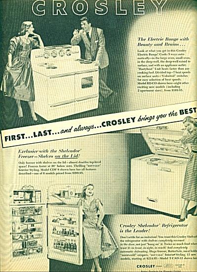 Crosley refrigerator, stove ad  1952 (Image1)