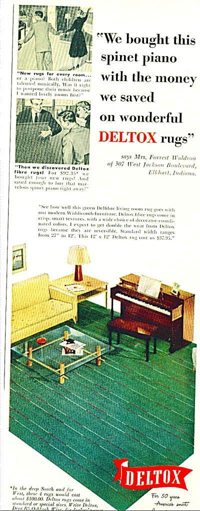 Deltox rugs ad   1952 (Image1)