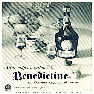 Benedictine Liqueur ad   1956 (Image1)