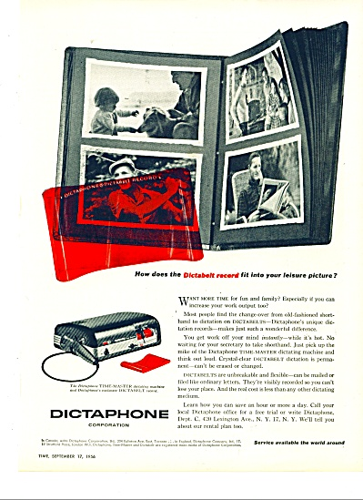 Dictaphone Corporation Ad - 1956