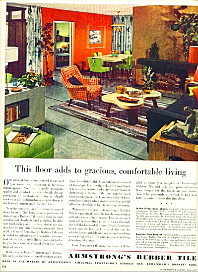 Armstrong's Rubber Tile ad - 1952 (Image1)