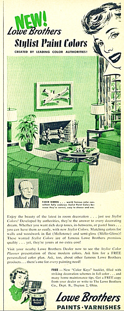 Lowe Brothers  Paints ad - 1952 (Image1)