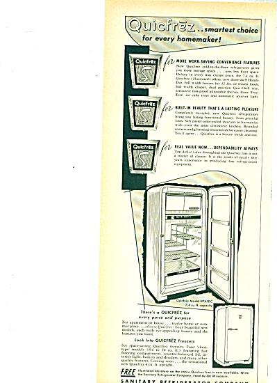 Sanitary refrigerator company ad - 1952 (Image1)