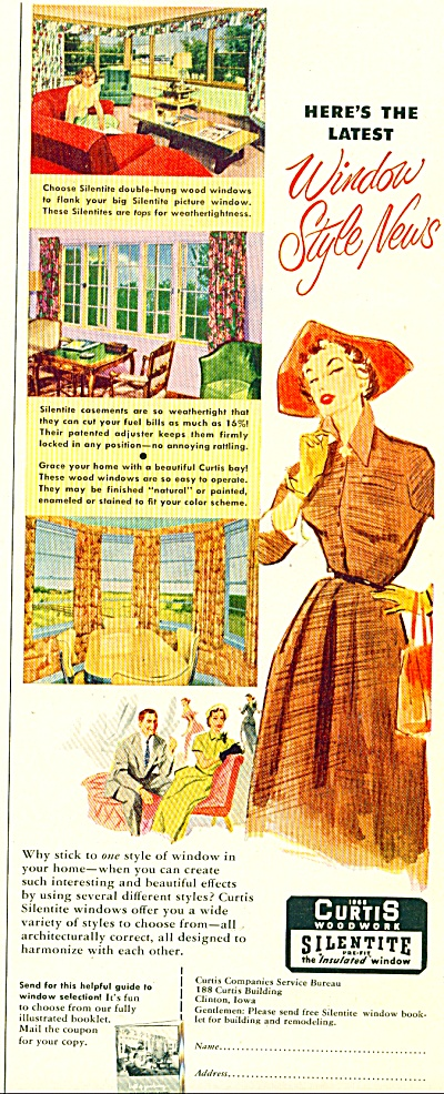 Curtis Woodwork ad - 1952 (Image1)