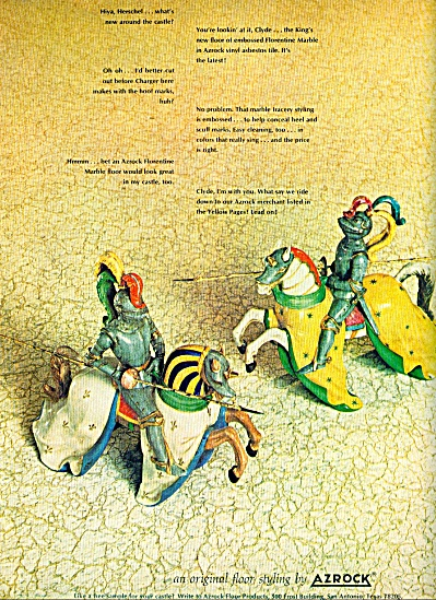 1965 AZROCK ASBESTOS Knights in ARMOR AD (Image1)