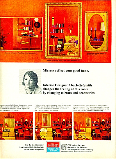 High Fidelity Mirror Ad - 1965