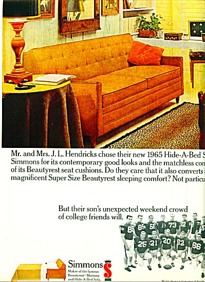 Simmons mattress co., Ad  -  1965 (Image1)