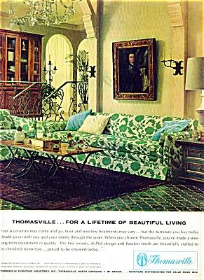 Thomasville furniture ad - 1965 GREAT DESIGN (Image1)