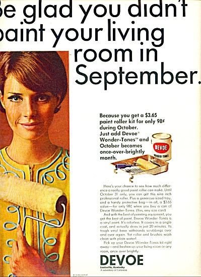 Devoe paint roller ad - 1965 (Image1)