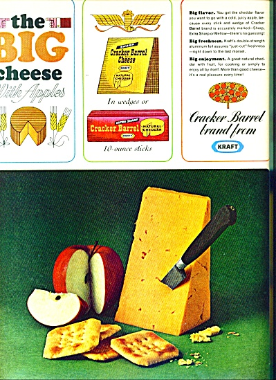 The big cheese with applies (Kraft) ad 1965 (Image1)