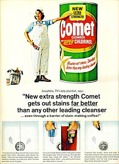 Comet cleanser ad  1965 (Image1)