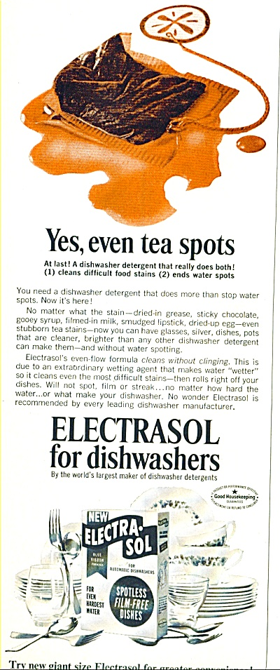 Electrasol for dishwashers ad - 1965 (Image1)