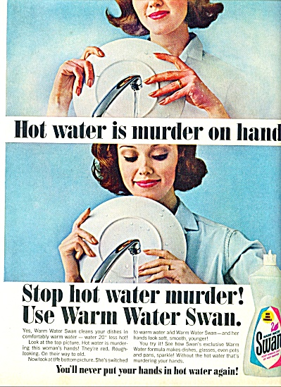 Swan Warm Water Soap - 1965