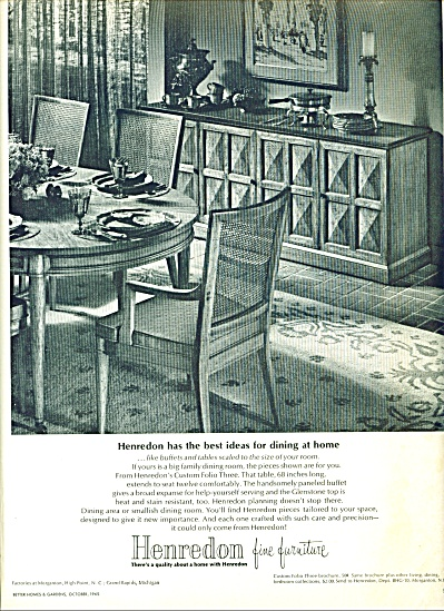 Henredon fine furniture ad -  1965 (Image1)