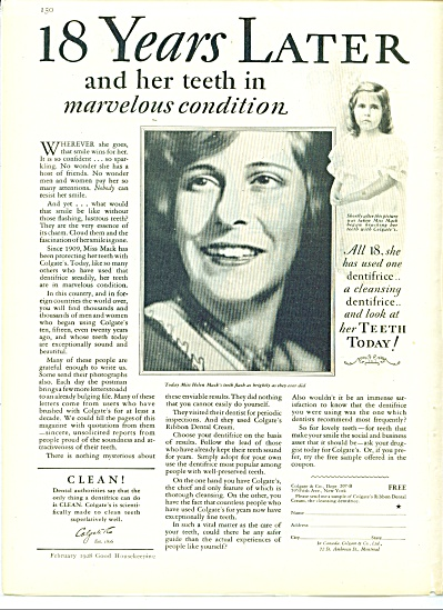 Colgate & Co. Ad - 1928