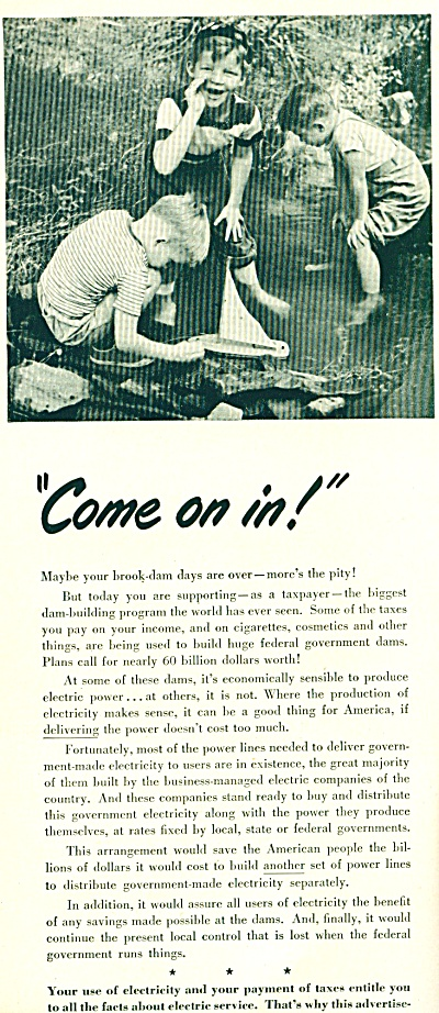 1964 Electric Light - Power AD 3 Boys in Pond (Image1)