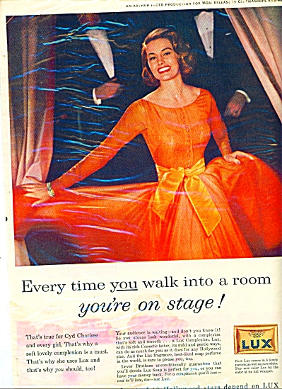 Vintage Cyd Charisse Lux Soap Ad