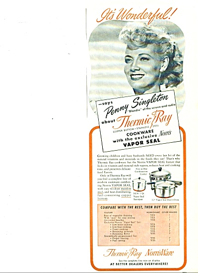 1948 Blondie Penny Singleton Ad Thermic Ware