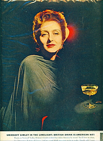 1959 CELESTE HOLM Smirnoff Vodka AD (Image1)