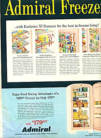 Admiral Freezer ad - 1957 (Image1)