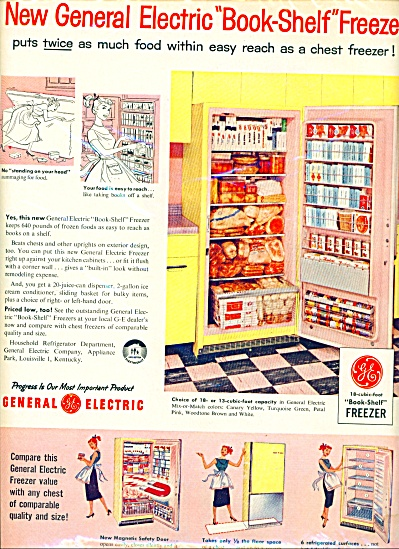 Vintage General Electric Freezer ad (Image1)