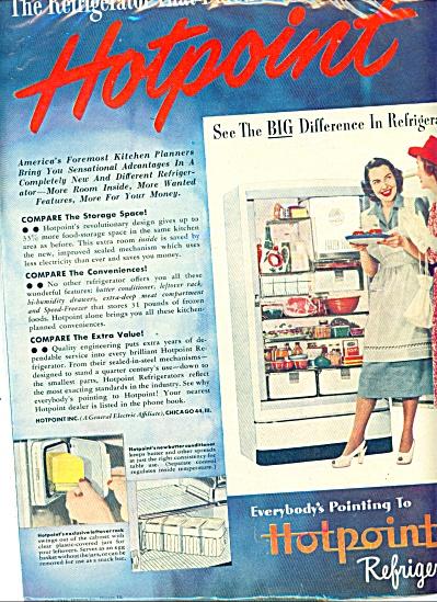 Hotpoint refrigerators ad - 1948 (Image1)