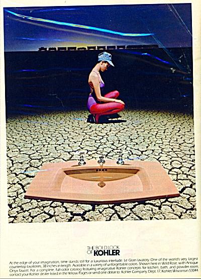 1980 KOHLER Bathroom Fixtures AD Pink Sink BO (Image1)