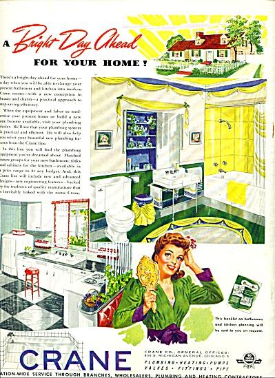 Vintage Crane Plumbing Fixtures AD Kitchen + (Image1)