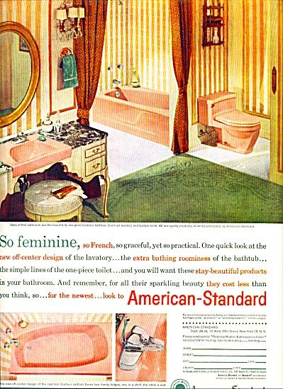 American Standard plumbing ad -  1961 (Image1)