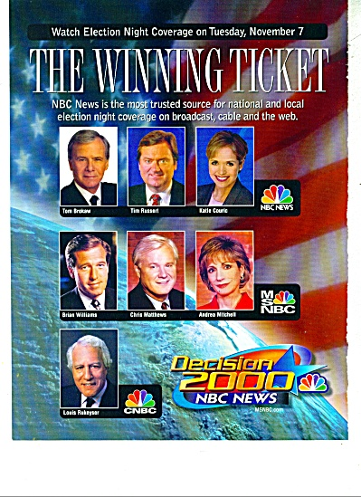 NBC Decision 2000 news ad (Image1)