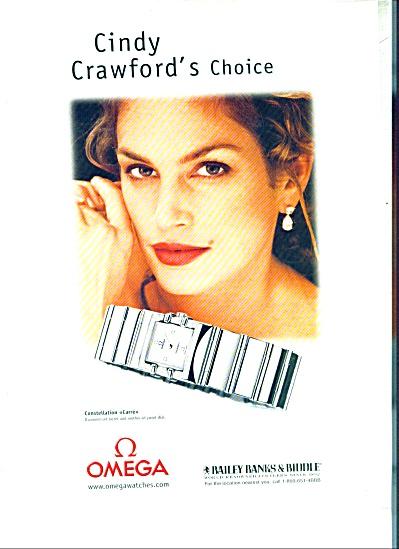 CINDY CRAWFORD Supermodel AD Omega Watches (Image1)