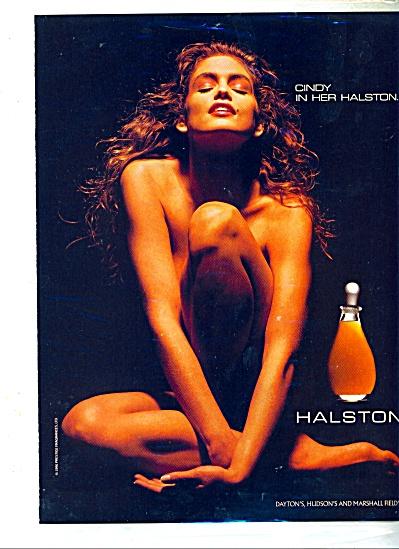 CINDY CRAWFORD Supermodel AD Halston Perfume (Image1)