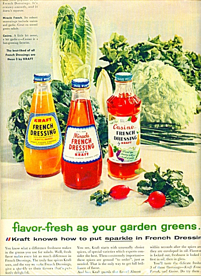 Kraft french dressings ad -  1956 (Image1)