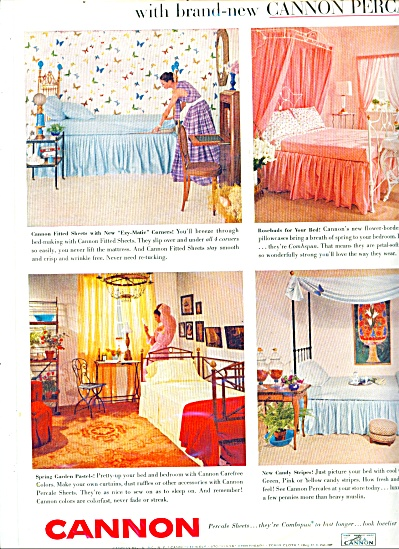 Cannon percale sheets ad - 1956 (Image1)
