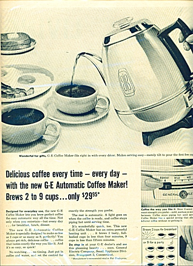 General Electric  ad AUTOMATIC COFFEE MAKER (Image1)