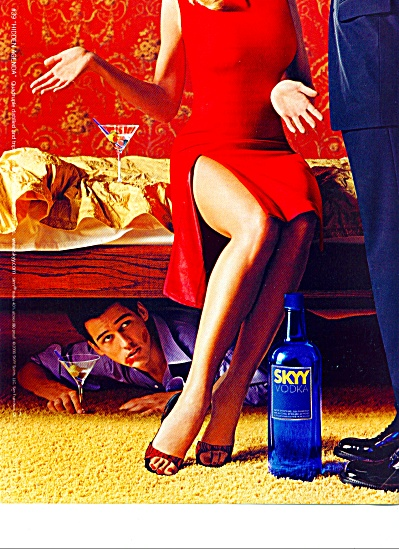 Skyy Vodka ad CAUGHT IN THE ACT (Image1)
