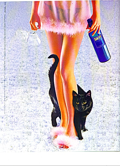 SKYY Vodka ad LOVELY LADY AND BLACK CAT (Image1)