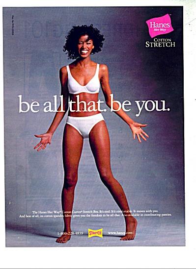 00 Hanes Lady in Bra - Underwear AD (Image1)