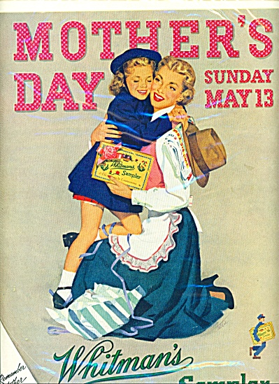 Vintage WHITMAN Sampler Candy AD MOTHER'S DAY (Image1)