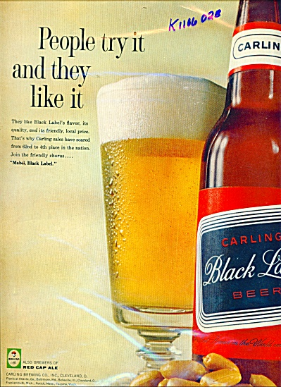 Carling Black Label Beer Ad
