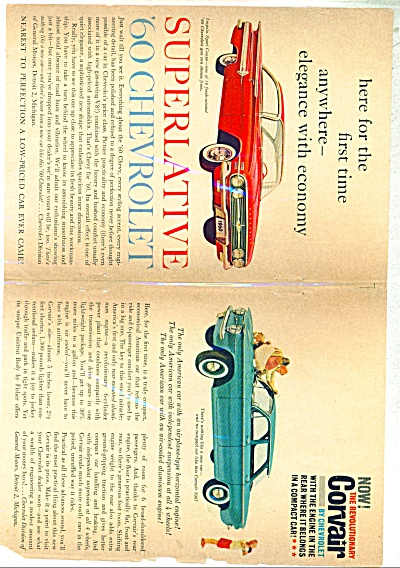 1960 Chevrolet CAR AD Impala - Corvair ORIGIN (Image1)