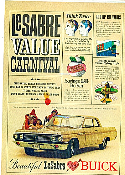1960's Buick LeSabre Convertible Carnival Ad (Image1)