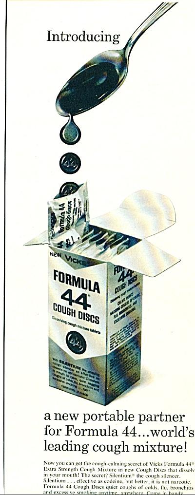 Formula 44 cough discs ad - 1965 (Image1)