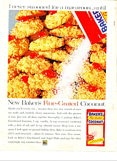 Baker's Fine Grated coconut ad - 1961 (Image1)