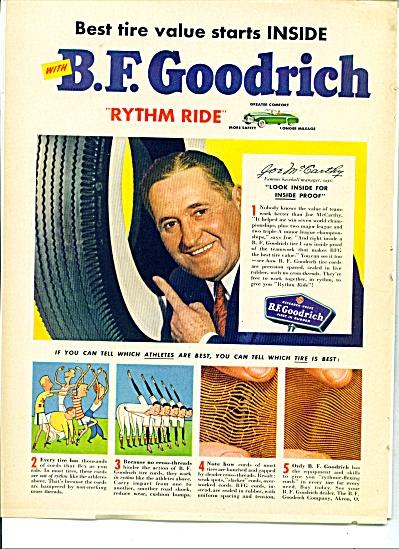 B.F. Goodrich ad (Joe McCarthy) NY YANKEES (Image1)