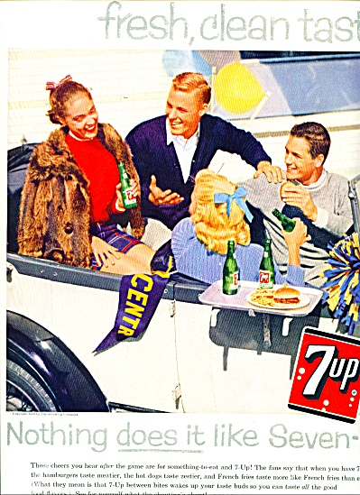 7 Up  drink ad - 1958 (Image1)